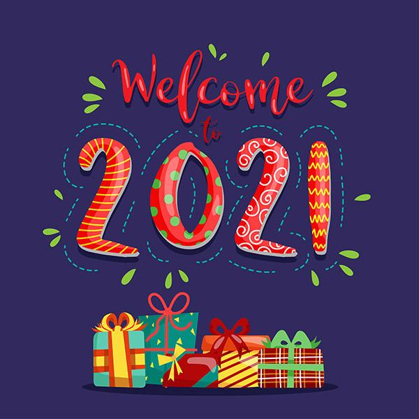2021新年潮流插画