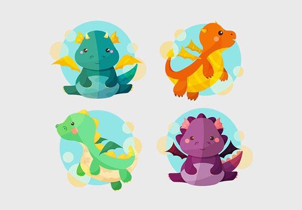 矢量卡通恐龙