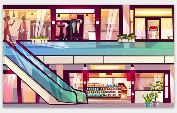 购物中心插图