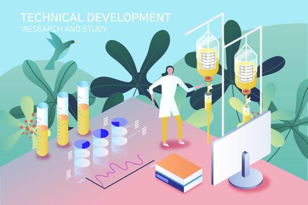 医疗技术开发插画