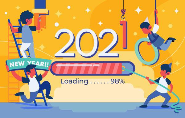 2021新年创意插画