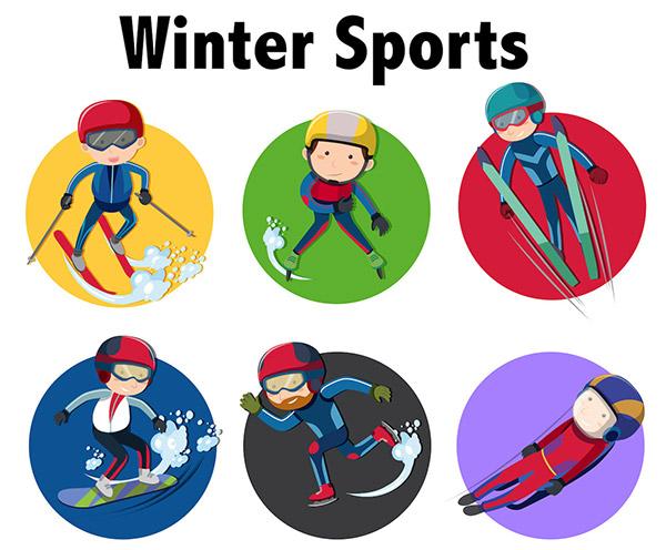 冬季体育运动项目图标
