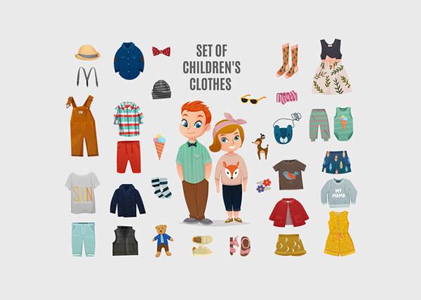 儿童服饰元素