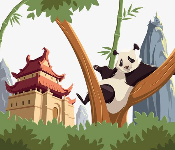 树杈上的熊猫
