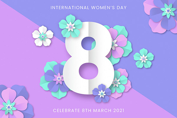 妇女节花卉装饰海报