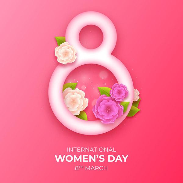 三八国际妇女节矢量