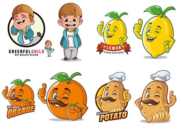 人物与土豆柠檬标志