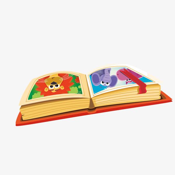 打开的动物故事书