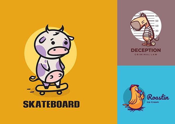 卡通小鸟标志设计