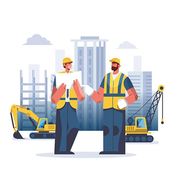 工程施工人物