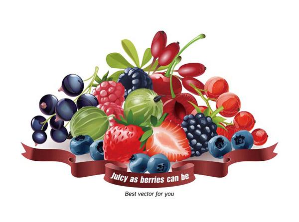 新鲜浆果水果