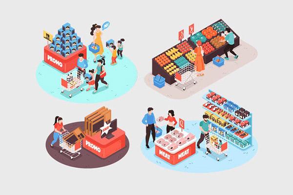 超级市场矢量