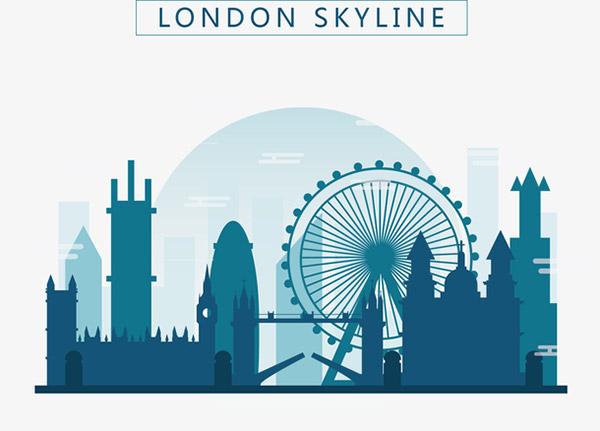 伦敦建筑剪影