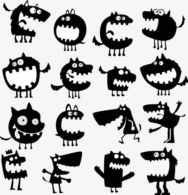 各种可爱的小怪兽