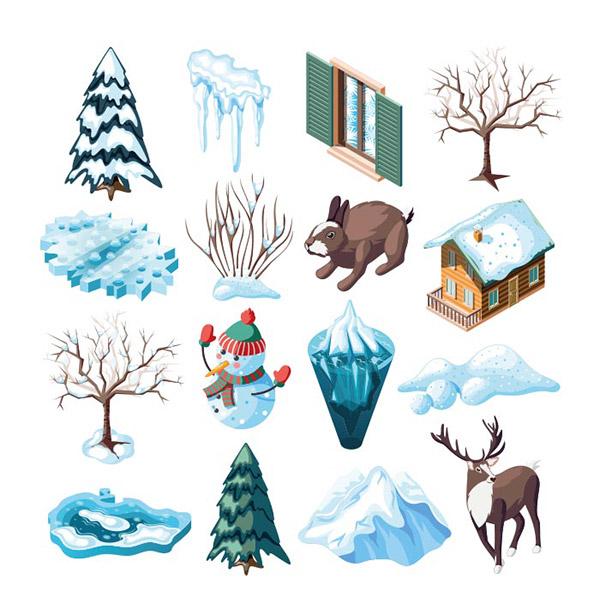 冬季景观矢量