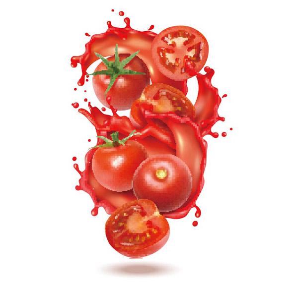 飞溅西红柿元素