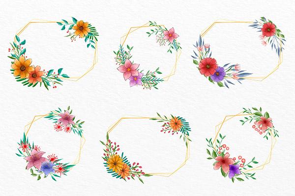 精美花卉装饰边框