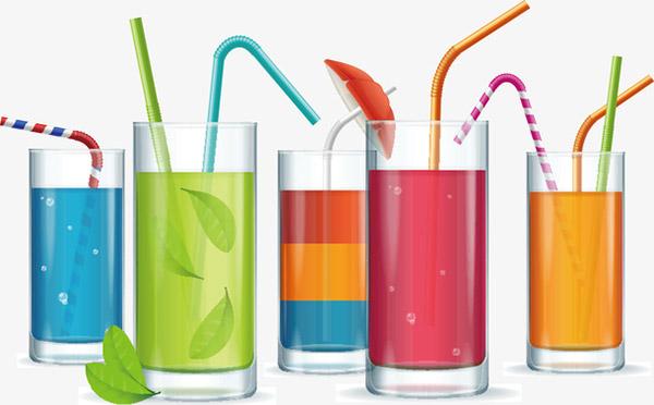 矢量彩色的饮料