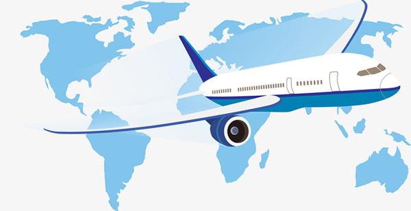 飞机航行和地图