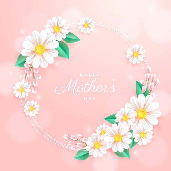 母亲节快乐矢量海报
