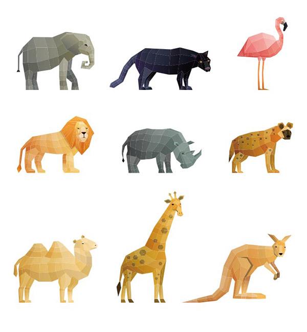 多边形野生动物
