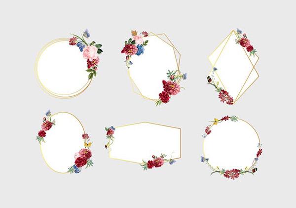 花卉框架矢量