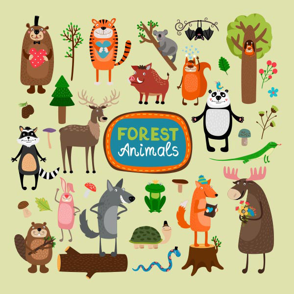 森林动物卡通形象