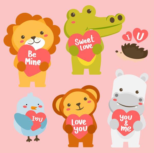 情人节动物标签