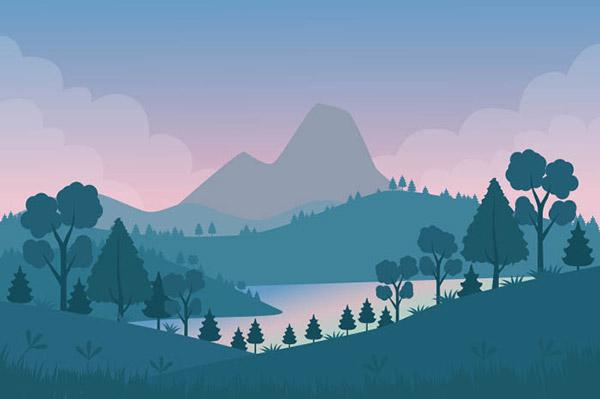 自然景观插画