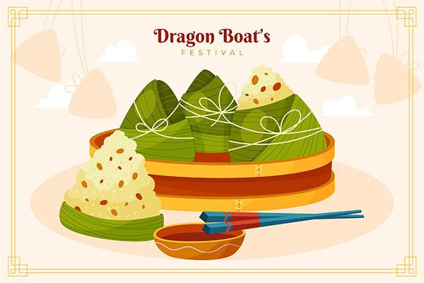 端午节矢量粽子插画