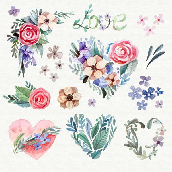 水彩花卉装饰