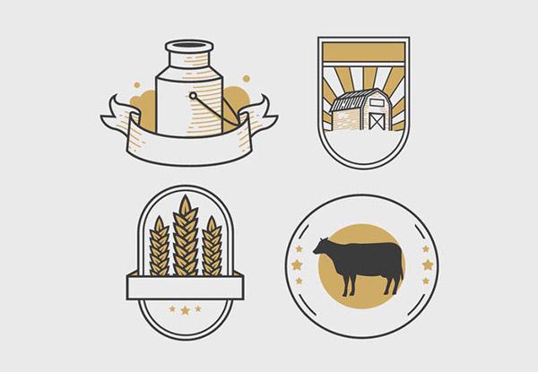 平面农场标志