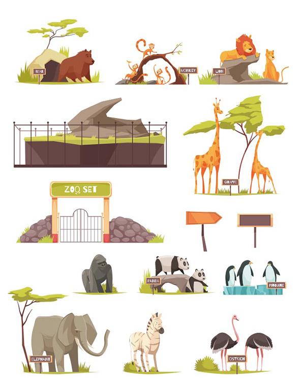 动物园动物矢量