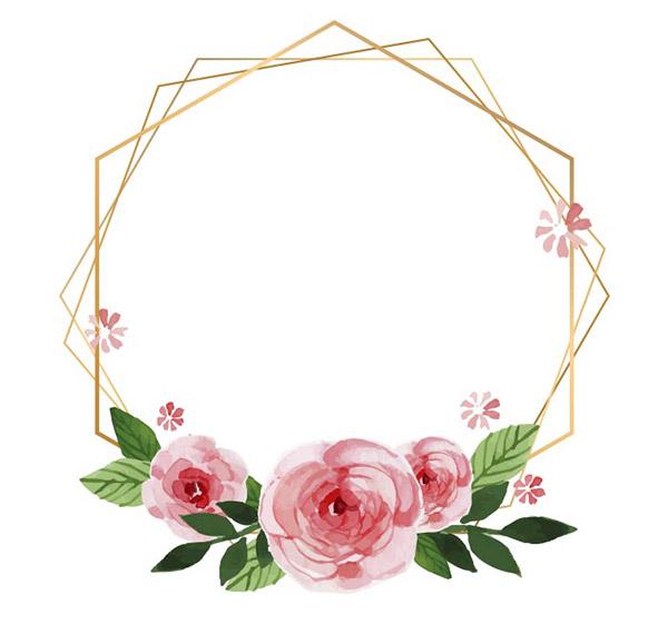 花卉框架金属边框