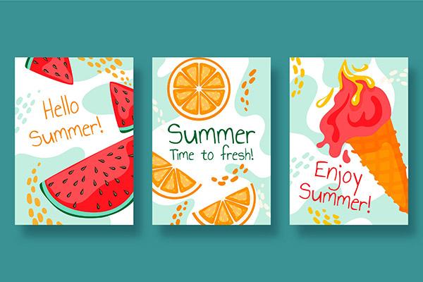 夏季手绘系列卡片