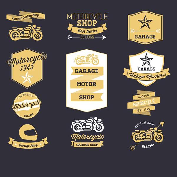 摩托车复古标签