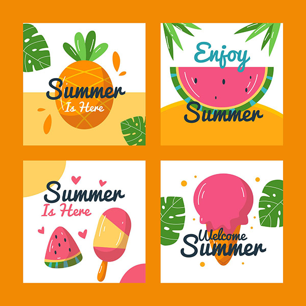 享受夏日卡片