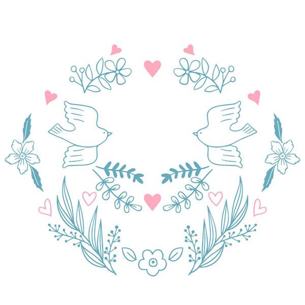 手绘婚礼装饰图案