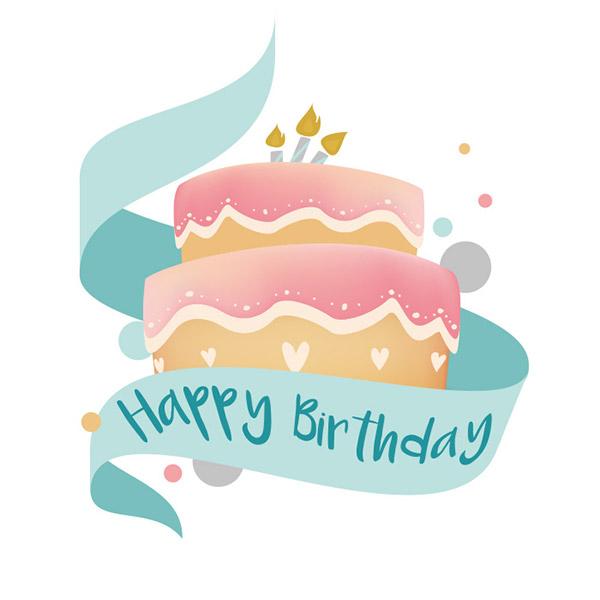 矢量生日快乐蛋糕