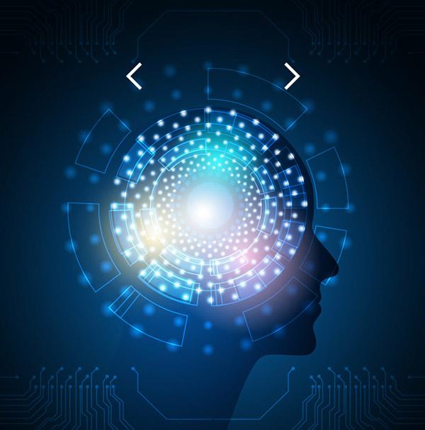 人工智能科技大脑背景