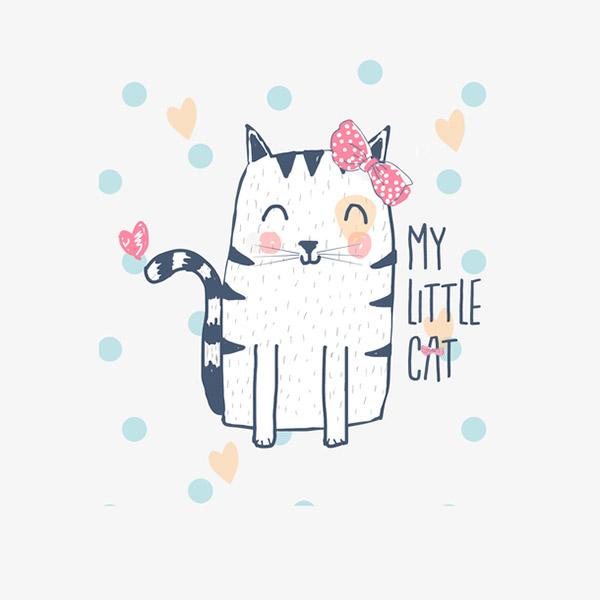 彩色可爱猫咪手绘