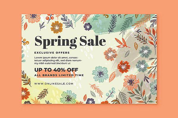 花朵春季促销海报