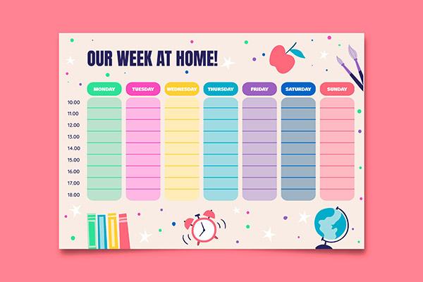 每周家务总策划表