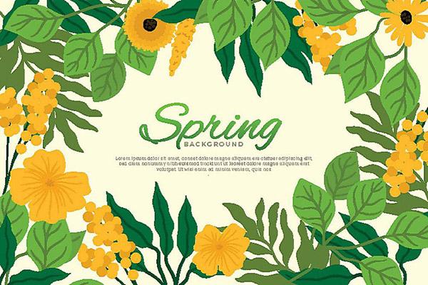 春天花卉背景