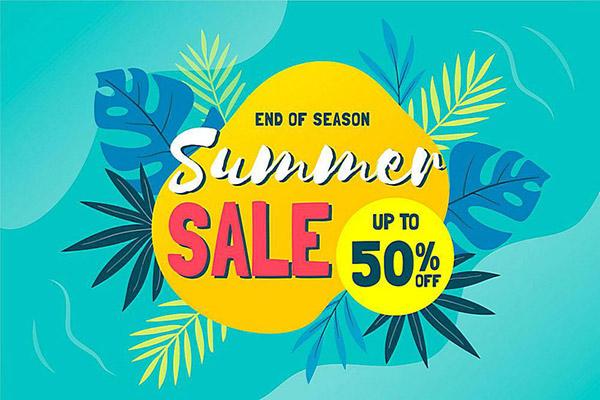 夏季优惠活动海报
