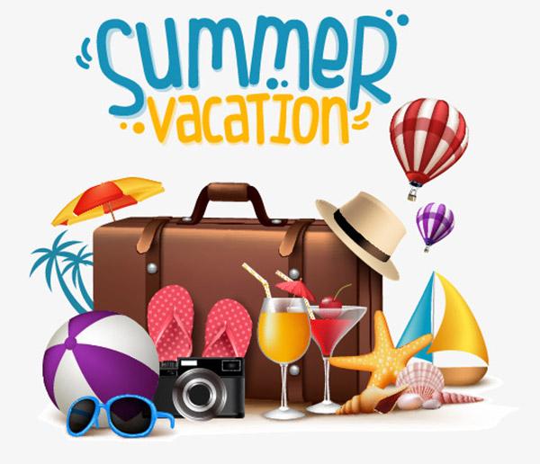 夏天旅行度假旅游元素