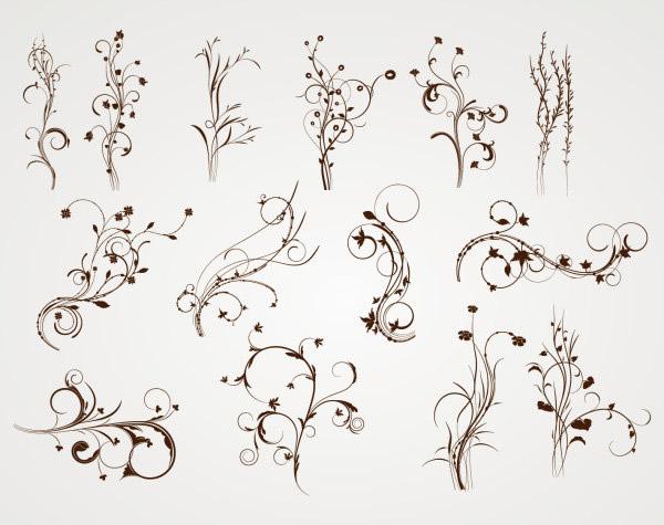 简洁线条花纹