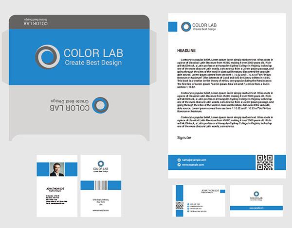 蓝色简洁风品牌视觉