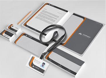 橙灰色搭配视觉元素