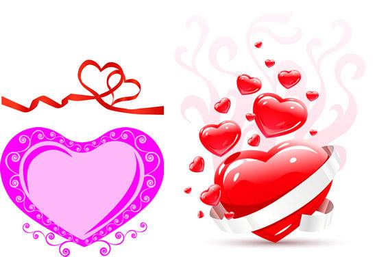 0 点 关键词: 浪漫爱心设计矢量素材,浪漫心形,爱心设计,丝带,花纹